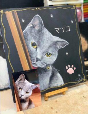 動物アート工房animoさん チョークアート マツコちゃん