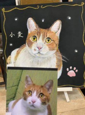 動物アート工房animoさん チョークアート 小麦ちゃん