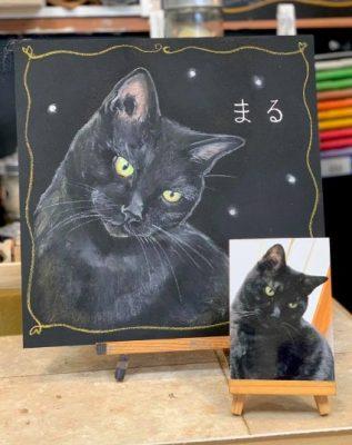動物アート工房animoさん チョークアート まるちゃん