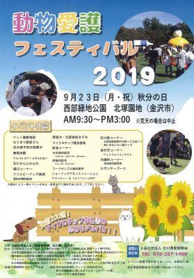 2019 石川県動物愛護フェスティバルチラシ