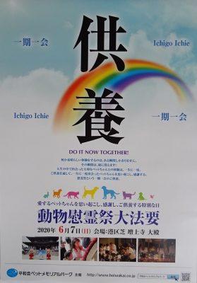 2020 動物慰霊祭大法要 ポスター